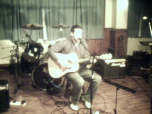 Mark Goslett playing at Open Mic March 2006