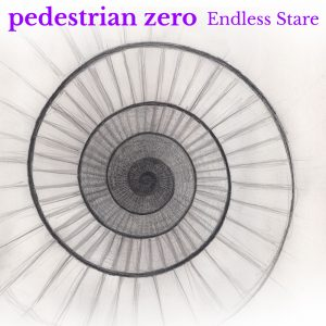 Artwork for Endless Stare by pedestrian zero - pencil drawing of a descending circular staircase (looks a bit like a spiral shell too)